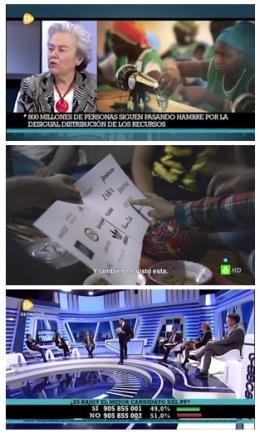 Montaje 13TV contrastes